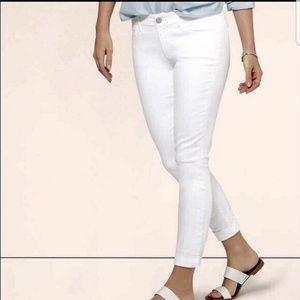 White Loft Ann Taylor curvy skinny ankle jeans